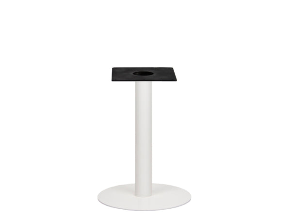 IntAfit Table Base For Integrated Cable Management White Base & Column - D580 x H690