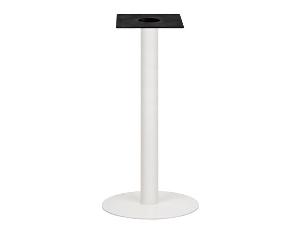 IntAfit Table Base For Integrated Cable Management White Base & Column - D580 x H1100