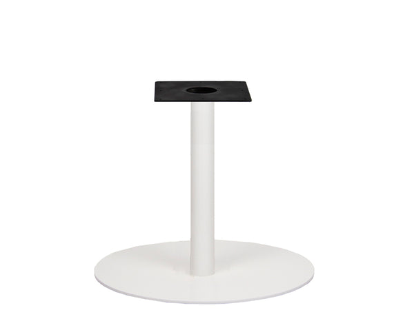 IntAfit Table Base For Integrated Cable Management White Base & Column - D720 x H690