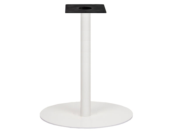 IntAfit Table Base For Integrated Cable Management White Base & Column - D720 x H1100