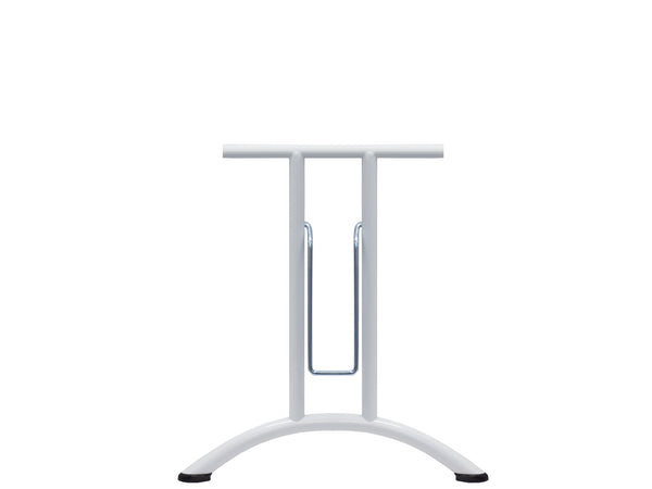 Folding Table Frame 690 x 580 Curved Foot White