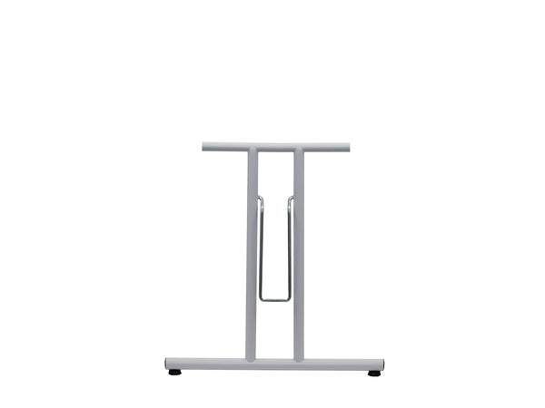 Folding Table Frame 690 x 590mm Straight Foot White - Eurofit Direct