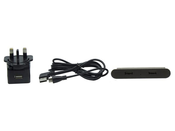 In-desk USB Charger - Black - 80mm