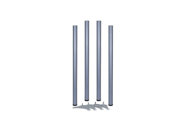 Table Legs 60 x 1100mm With 30mm Adjustment - Silver 9006