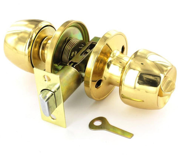 Securit Entrance Door Knob Set - Privacy - Brass