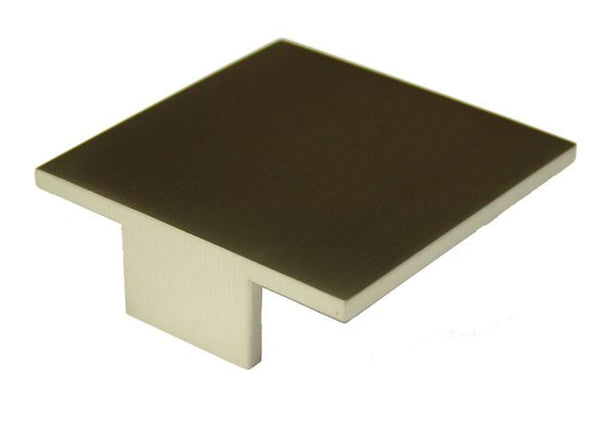 Square Handle 75 x 75mm (Hole Centres 64mm) Brushed Nickel