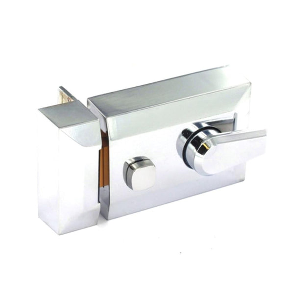 Securit Double Locking Nightlatch -  Chrome Plated