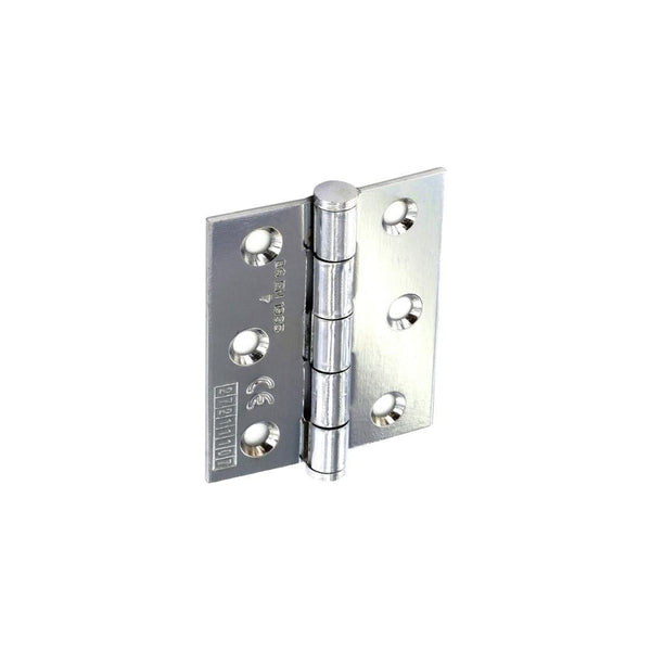 CE Grade Steel Butt Hinge - 75mm - Polished Chrome Plated.