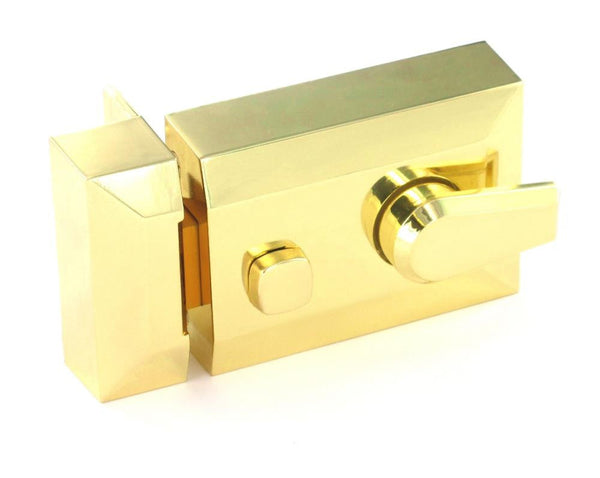 Securit Double Locking Nightlatch - Polished Brass