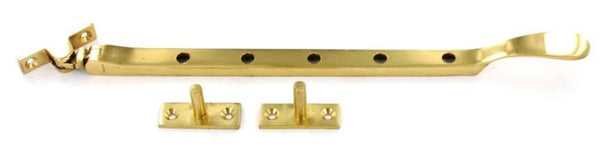 Victorian Casement Stay Spoon Style - 300mm - Brass - Eurofit Direct
