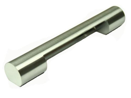 Cylinder Handle Length 188mm (Hole Centres 160mm) Brushed Nickel - Eurofit Direct
