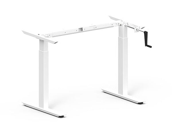 Height Adjustable Desk Frame 685-1165mm White Crank