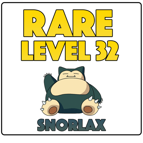 RARE Customisable Level 32 Account Guaranteed Snorlax