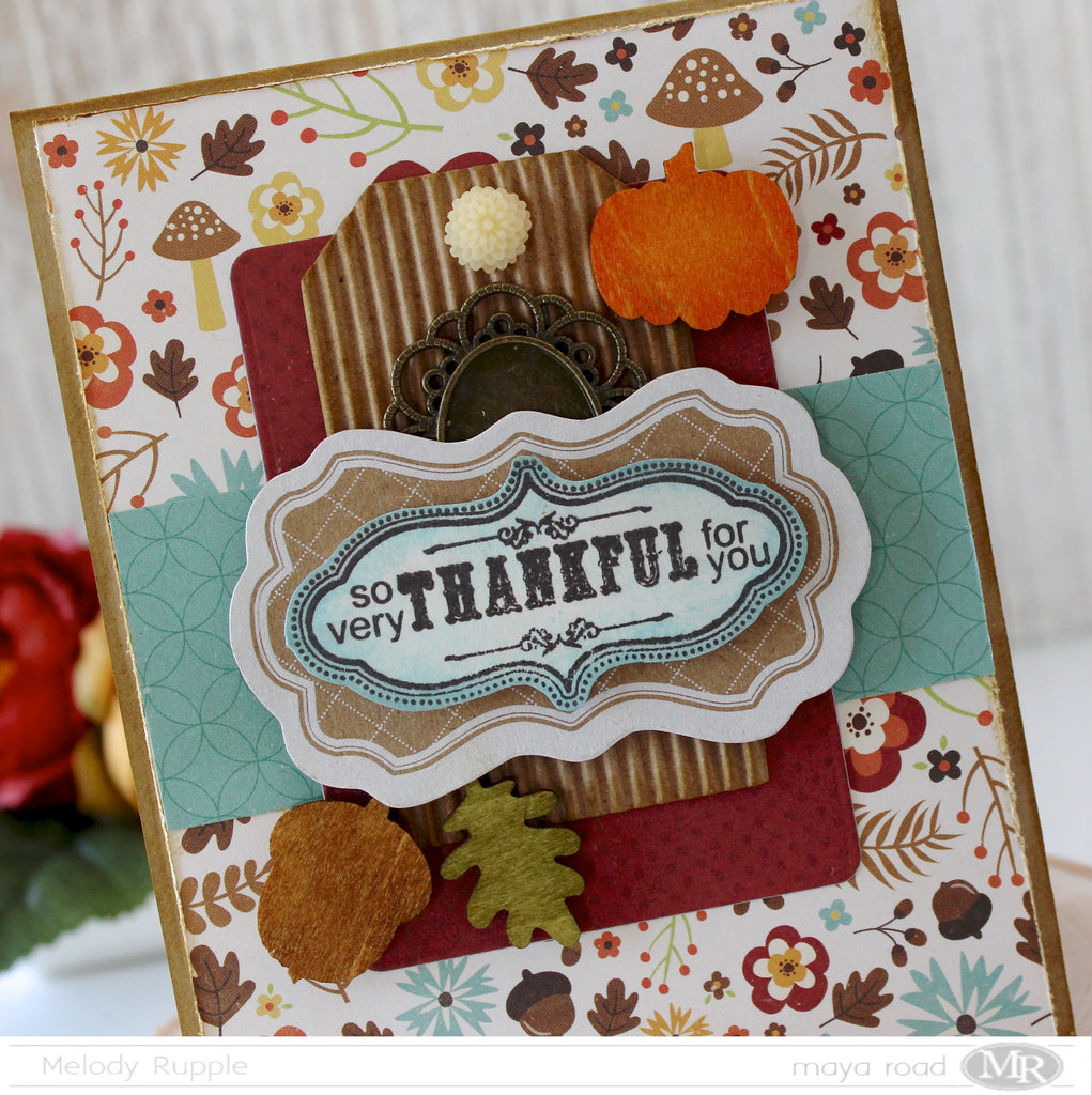 Fall Cards with Maya Road Embellishments