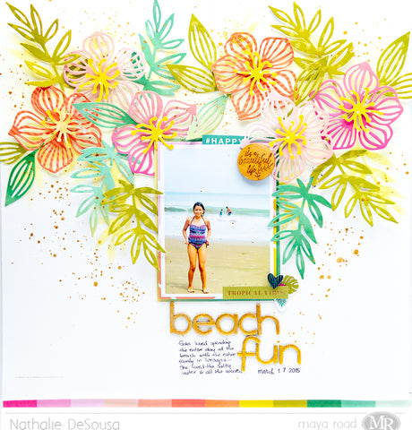 Scrapbook Layout - BEACH FUN  |  Nathalie DeSousa
