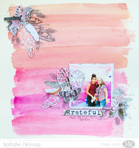 Scrapbook Layout  |  GRATEFUL