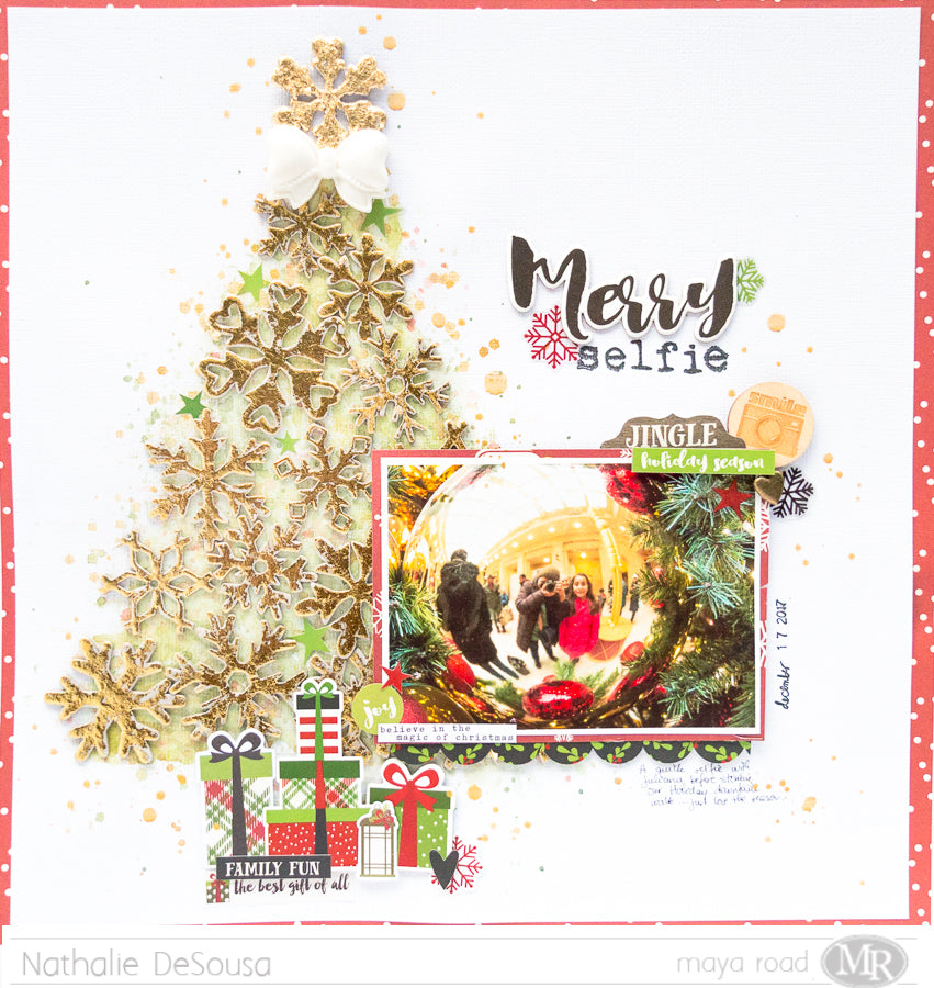 Scrapbook Layout  |  MERRY SELFIE