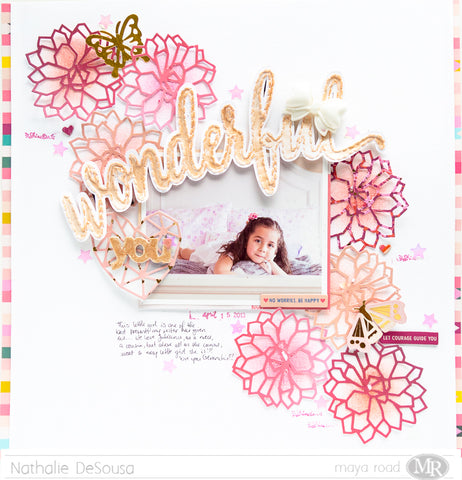12x12 Scrapbook Layout | WONDERFUL YOU
