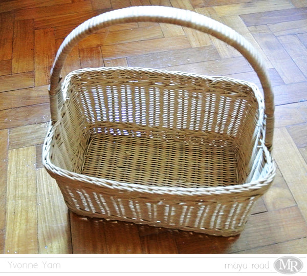 The basket makeover by Yvonne Yam for Maya Road