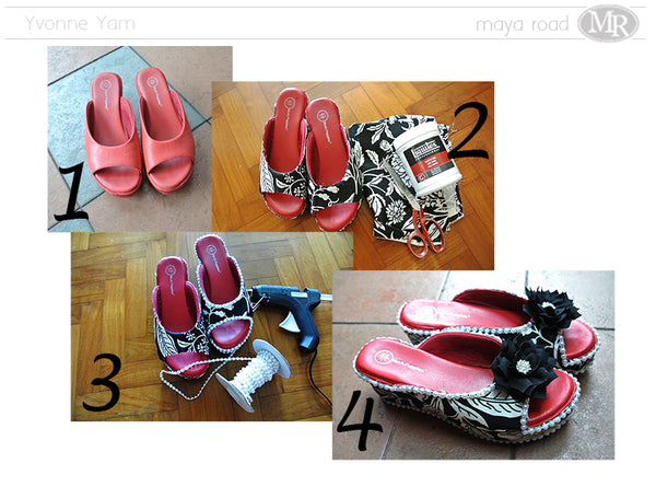 The shoe makeover by Yvonne Yam for Maya Road