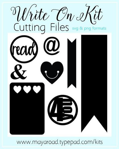 Write On Digital Cutting Files - SVG and PNG