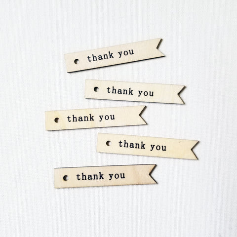 Wood Thank You Pieces