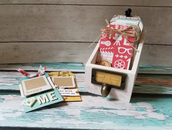 9 Things About Me Card Catalog Tag Kit