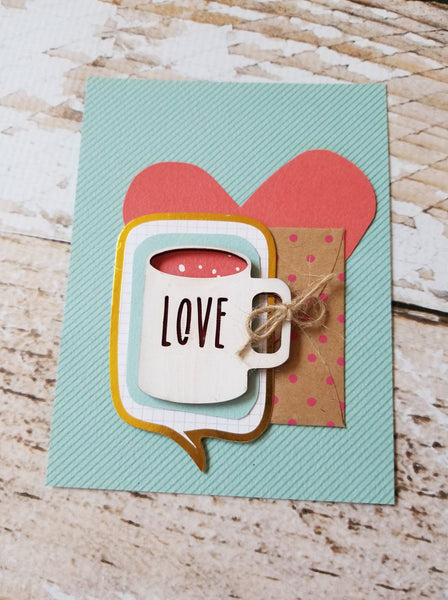 Mini Dishware Wood Mug Embellishments!