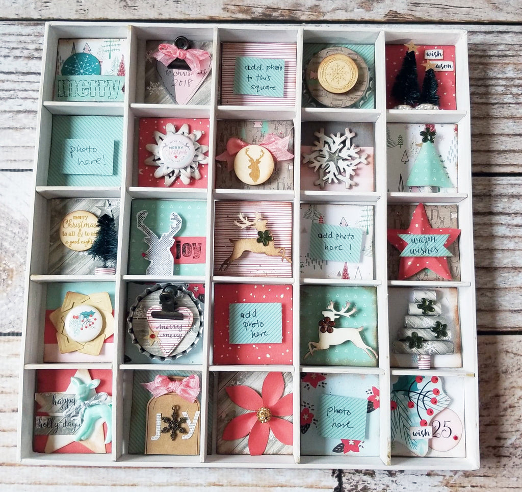 Handmade Holidays Countdown Shadowbox Kit