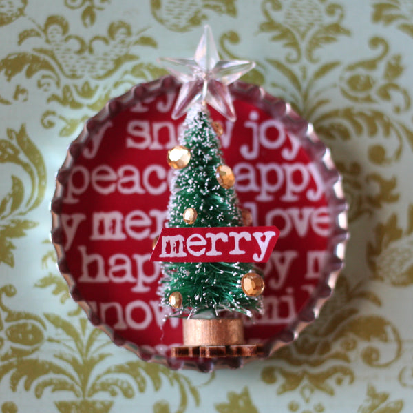 Holiday Bottlecap Printables - FREE
