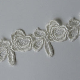 Roses Vintage Lace Trim - Cloud