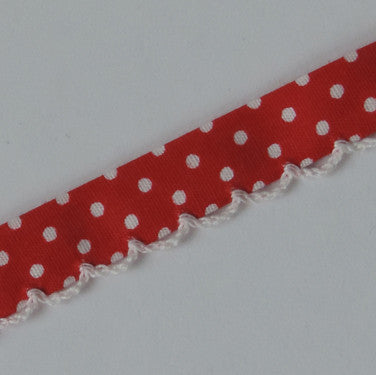 Candy Dots Bias Tape - Red Hots