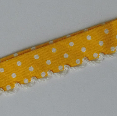 Candy Dots Bias Tape - Lemon Drops