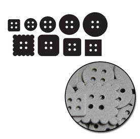 Buttons Mini Chipboard Set
