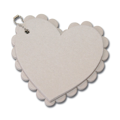 Scallop Heart Chipboard Album