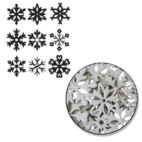 Snowflake Chipboard Set