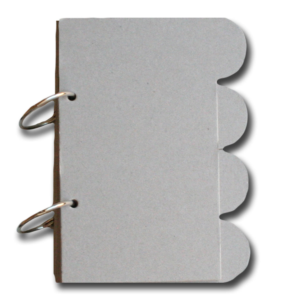 2-Ring Round Tab Chipboard Journal Book