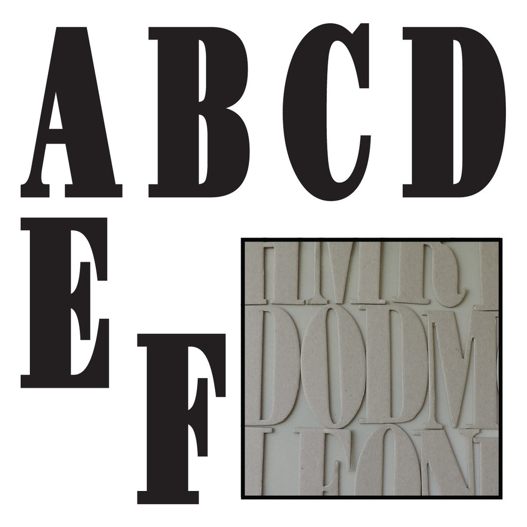 Matthew Uppercase Chipboard Alphabet- Bulk