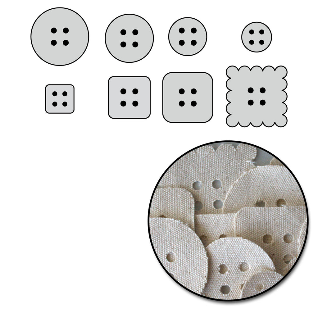 Canvas Button Pieces