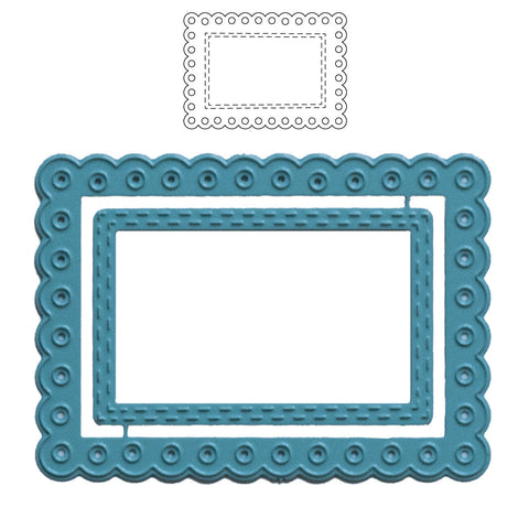 Scalloped Frame ATC Die