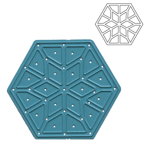 Geometric Hexagon Die