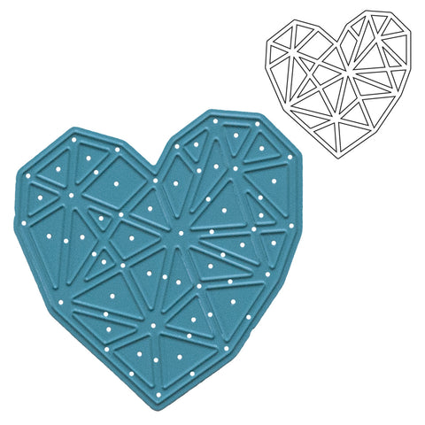 Geometric Heart Die