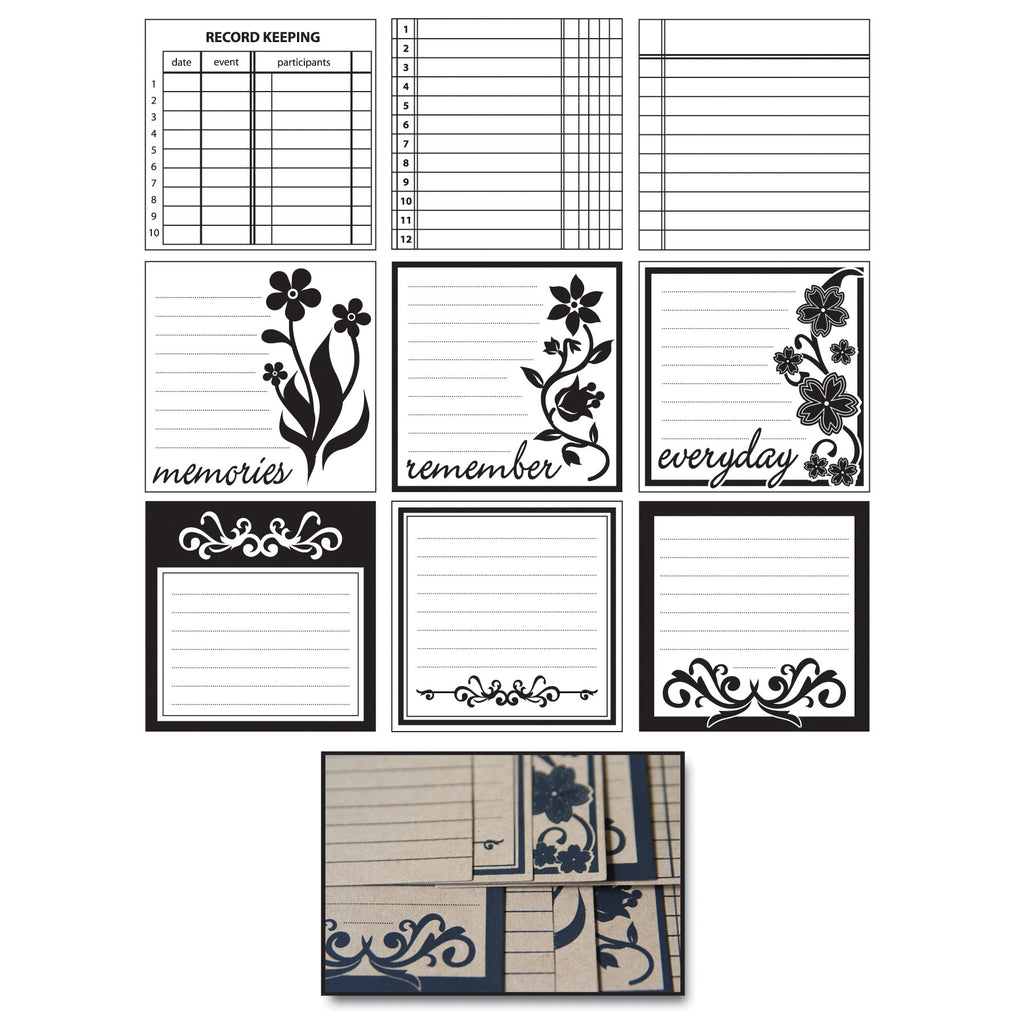 Kraft Journaling Tags - Scrolls