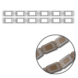 Kraft Large Ticket Strips - White - Bulk