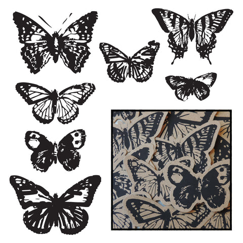 Kraft Vintage Butterfly Pieces - Black