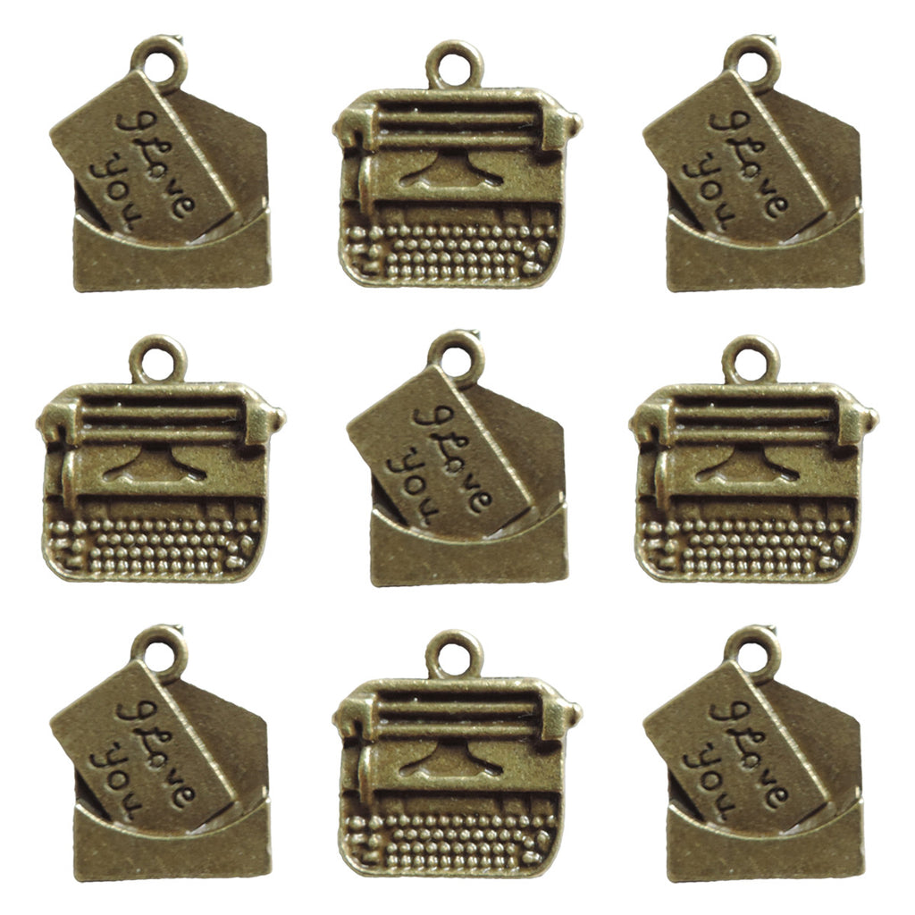 Ken Oliver Vintage Love Note & Typewriter Charms