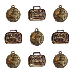 Ken Oliver Vintage World Traveler Charms