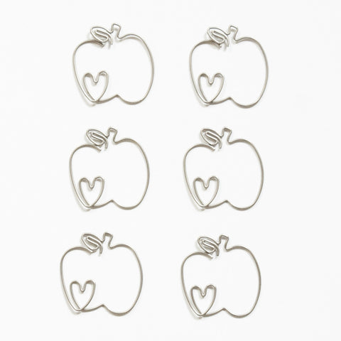 Lovely Apple Clips - Bulk
