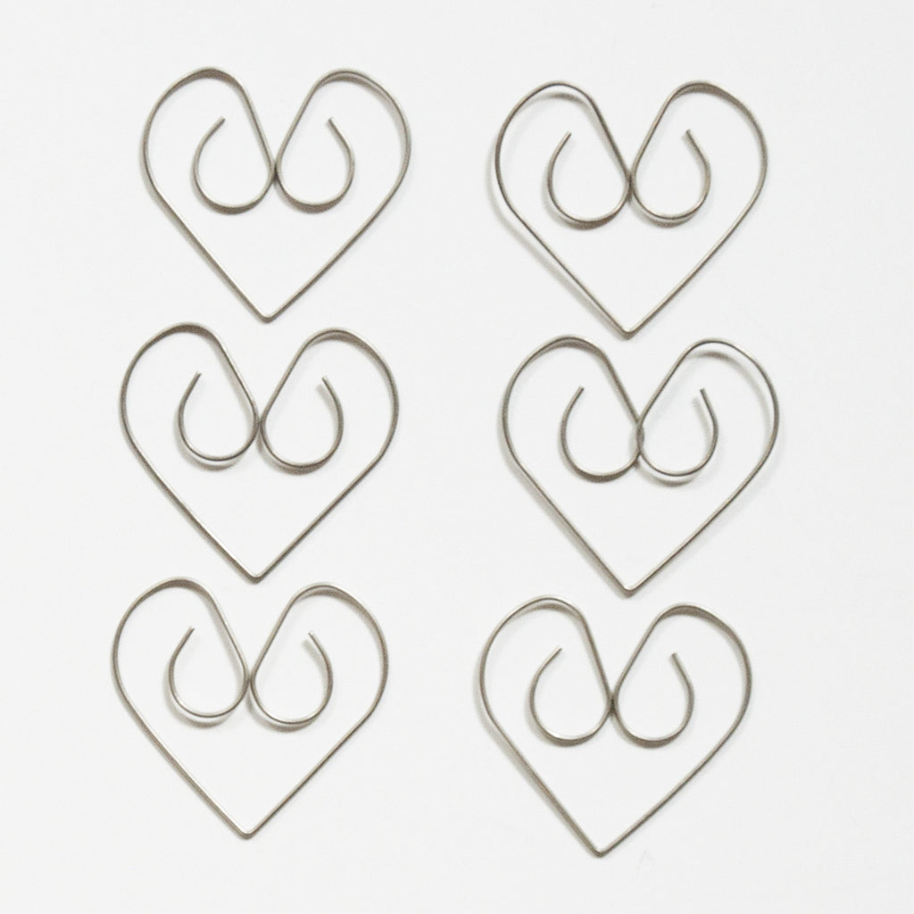 Simple Heart Clips - Bulk