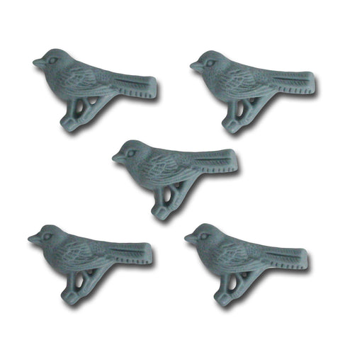 Feathered Friend Resin Embellishments - Slate